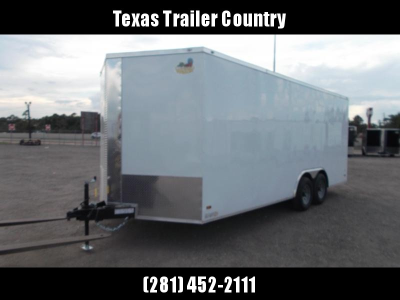 """2022 Covered Wagon Trailers 8.5x20 Tandem Axle Cargo / Enclosed Trailer / 6'6"""" Interior Height / 3500# Axles / Ramp / RV Side Door / LEDs / Semi-Screwless Exterior"""