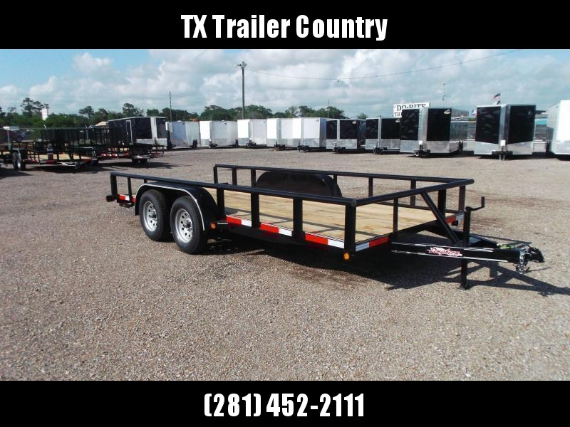 2022 Longhorn Trailers 83x16 Utility Trailer / Pipetop / 5ft Stow Away Ramps / Electric Brakes