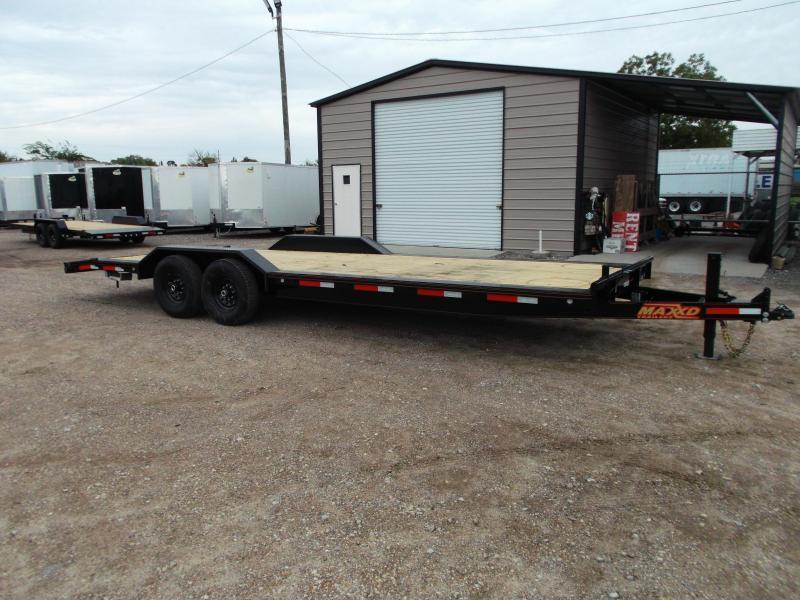 2021 Maxxd 102x24 14K H6X Car Hauler / Flatbed Trailer / Equipment Hauler / Powder Coated / 7K Axles / Drive Over Fenders