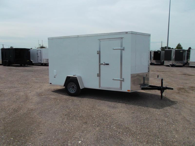 2020 Prime 6x12 Single Axle Cargo Trailer / Enclosed Trailer / 6ft Interior Height / Ramp / Side Door / LEDs