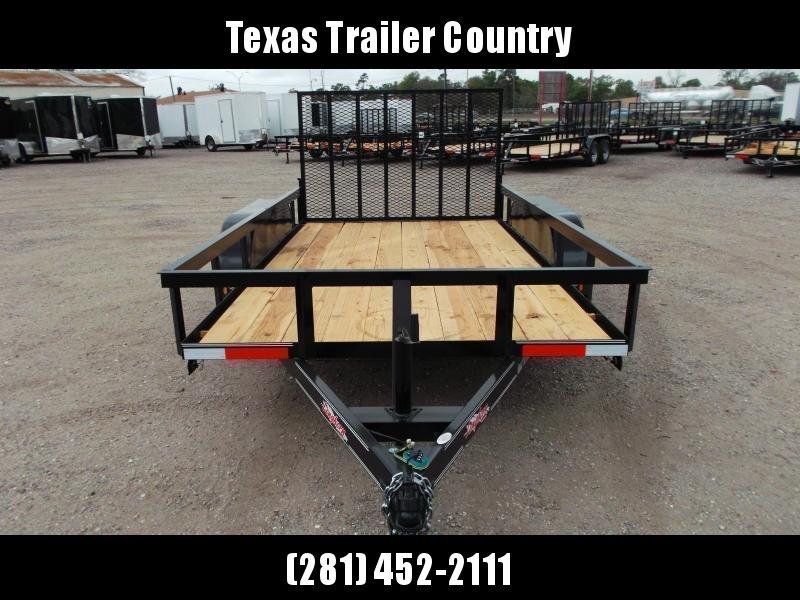 2021 Longhorn Trailers 12ft Tandem Axle Utility Trailer w/ Heavy Duty 4ft Ramp Gate