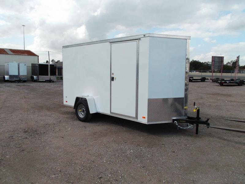 "2021 Covered Wagon Trailers 6x12 Single Axle Cargo Trailer / Enclosed Trailer / 6'6"" Interior Height / Ramp / RV Side Door / LEDs / Semi-Screwless Exterior"