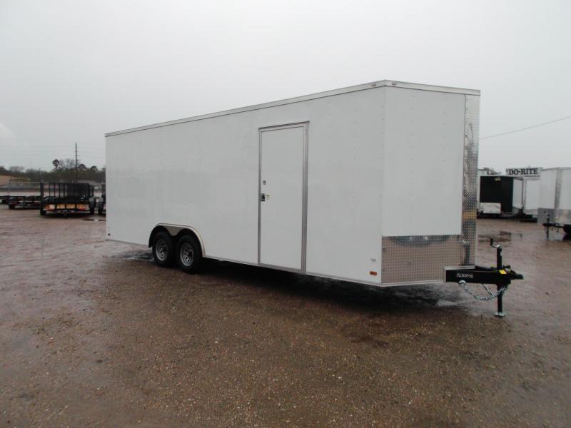 "2020 Covered Wagon Cargo 8.5x24 Tandem Axle Cargo Trailer / Car Hauler w/ 7'6"" Interior / 5200# Axles / Heavy Duty Ramp / RV Side Door / LEDs"