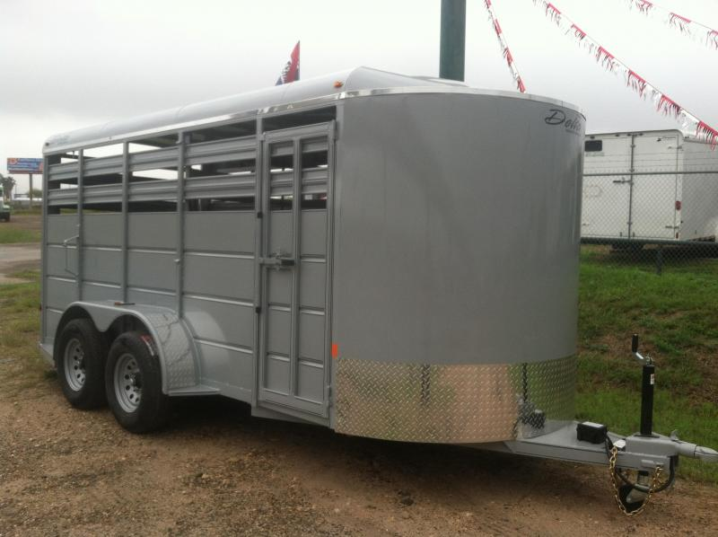 2020 DELTA 6X16 CATTLE STOCK TRAILER