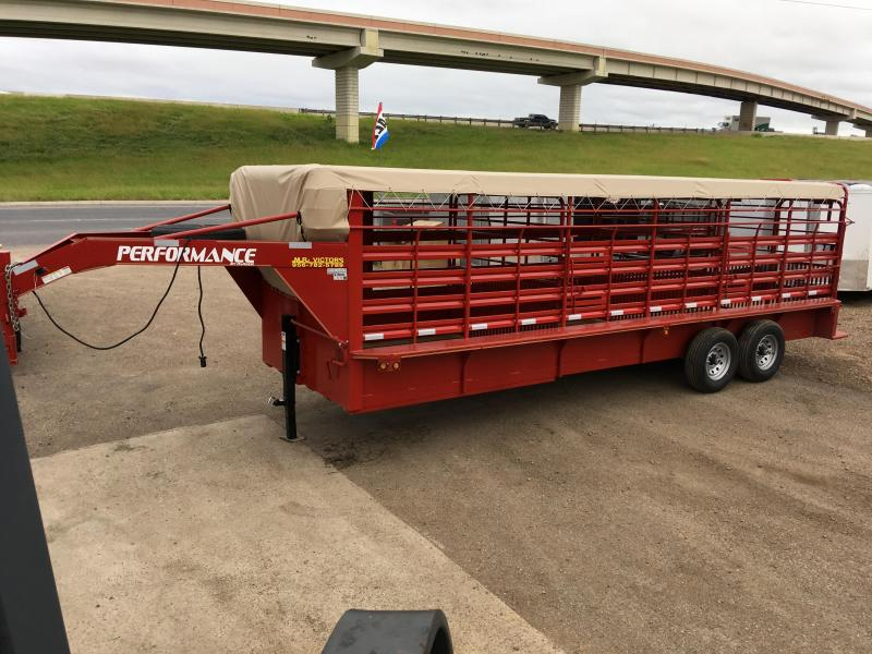 2020 Performance Trailers 80 X 24 Livestock Trailer