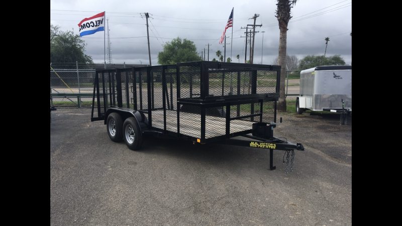 "2021 MR VICTORS 83"" X 14' LANDSCAPE TRAILER"