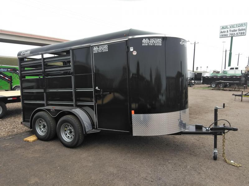 2021 Delta Manufacturing 6X16 3-Horse Trailer