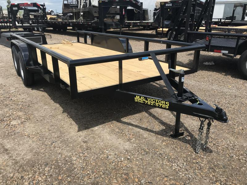 2020 MR VICTORS 76X16 PIPE TOP UTILITY TRAILER