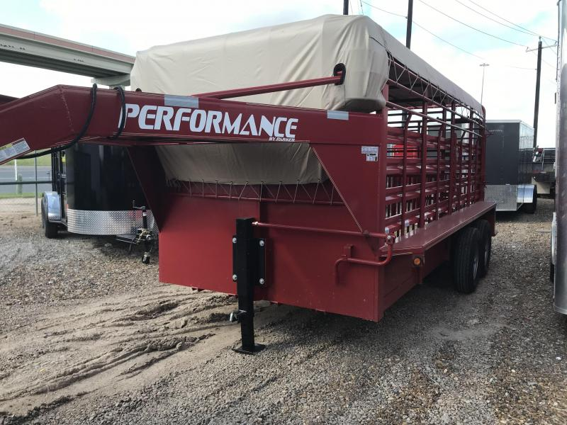 2018 Performance Trailers 80 X 16 Livestock Trailer