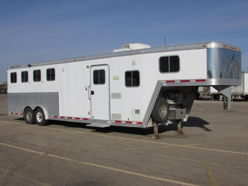 2007 Featherlite Trailers 8581 Featherlite 4 Horse Slant Horse Trailer