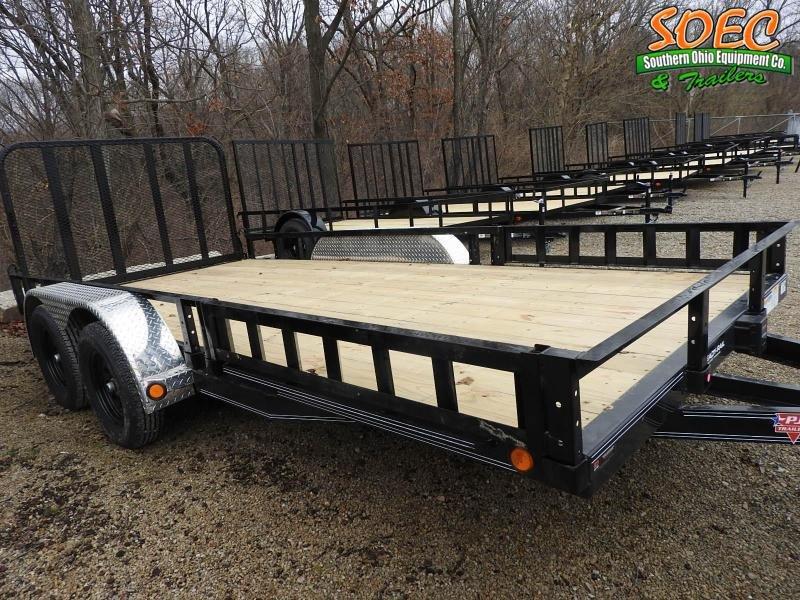 """2021 PJ UL 16' x 83"""" w/ ATV Ramps Utility Trailer"""