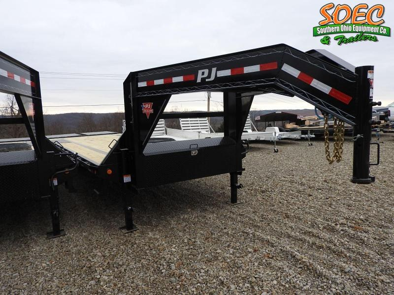 "2021 PJ LS 102"" x 23' + 5' w/ Monster Ramps Equipment Trailer"