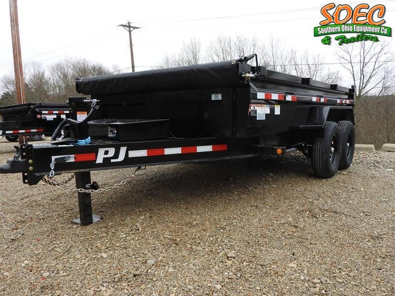 "2022 PJ DL 83"" x 14' Low Pro Dump Trailer"