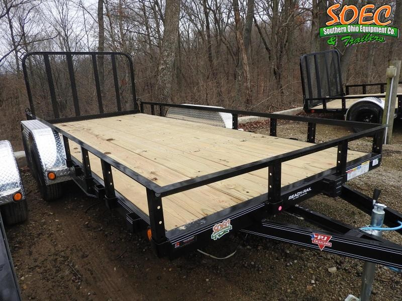 "2021 PJ UL 83"" x 16' Fold-In Gate Utility Trailer"