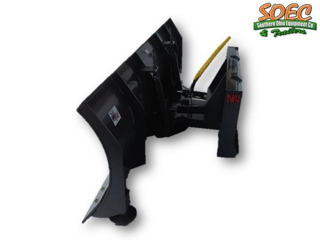 """SOEC 84"""" 4 way Dozer Snow Blade Skid Steer Attachment"""