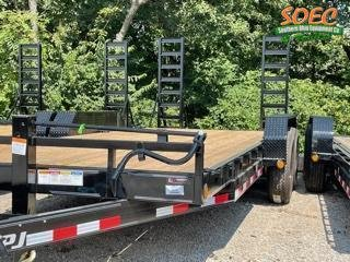 """2022 PJ CC 83"""" x 20' Equipment Trailer w/ Stand Up Ramps"""