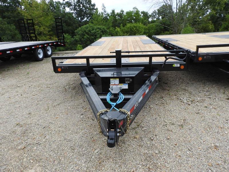 "2021 PJ T8 22' x 102"" Deckover Tilt w/ Winch Plate Flatbed Trailer"