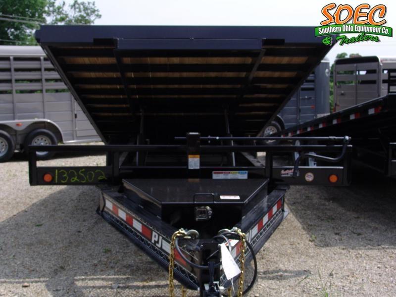 "S&D 2021 PJ T8 22' x 96"" Deckover Tilt Flatbed Trailer w/ Winch Plate"