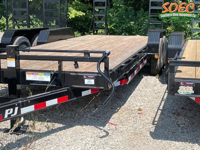 """2022 PJ CC 83"""" x 22' Equipment Trailer w/ Stand Up Ramps"""