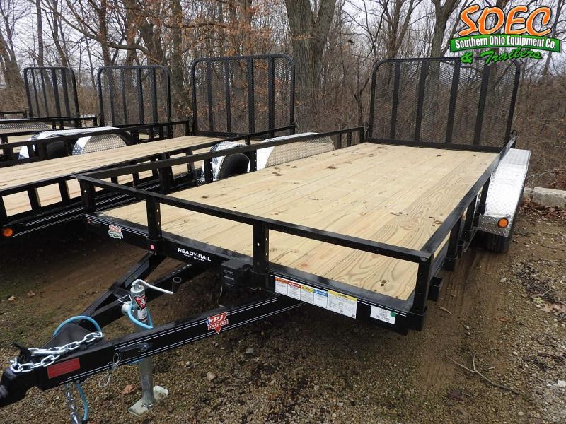 "2021 PJ UL 83"" x 16' Utility Trailer Fold In Gate"