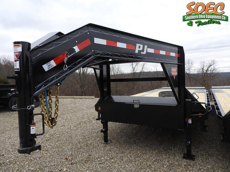 "2021 PJ LS 102"" x 25' w/ Monster Ramps Equipment Trailer"