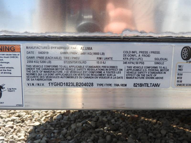 2022 Aluma 82X18 HTilt Anniversary Edition 9900 GVWR