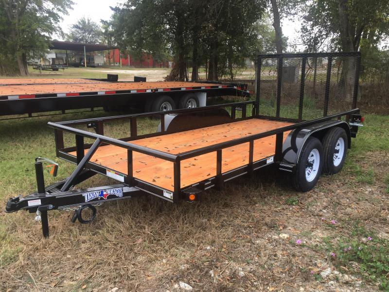 "2017 Texas Bragg Trailers 14' X 77"" Pipe Top Utility Trailer"