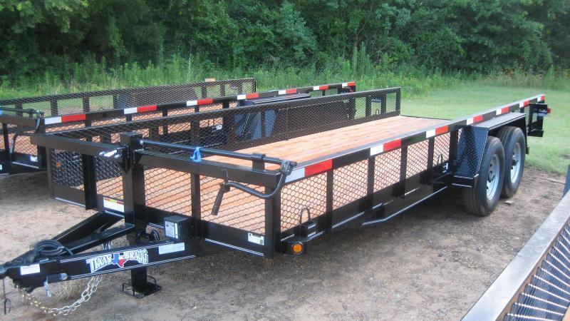 2018 Texas Bragg Trailers 18 BIG SQUARE TUBING TOP Utility Trailer