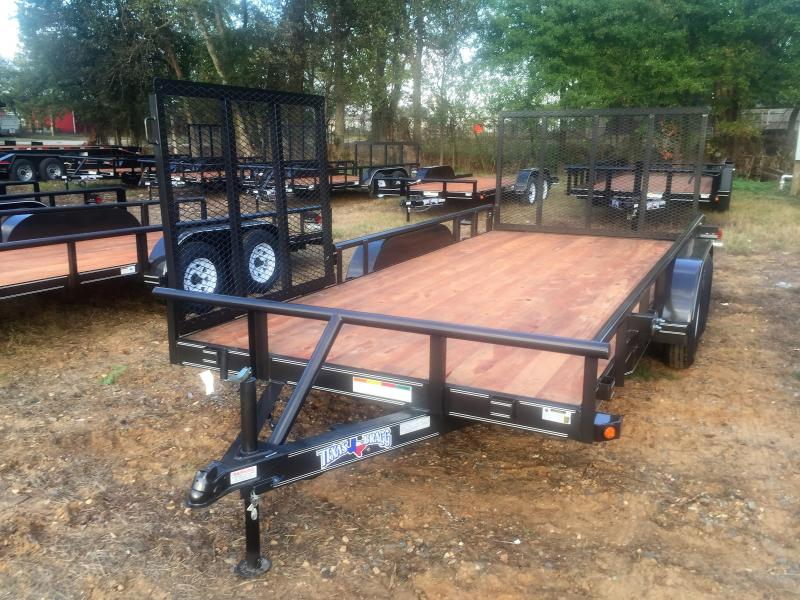 "2017 Texas Bragg Trailers 16' X 83"" Pipe Top Utility Trailer"
