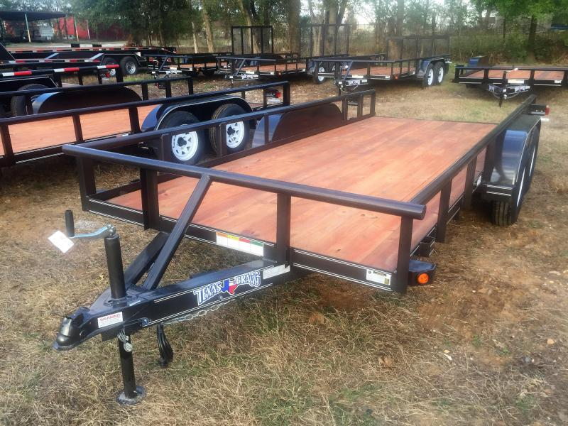 "2017 Texas Bragg Trailers 16' X 77"" Pipe Top Utility Trailer"