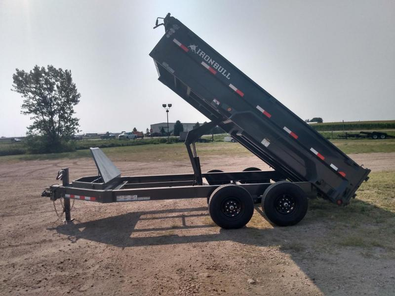 "2021 Iron Bull 83""x14' Industrial Dump Trailer"
