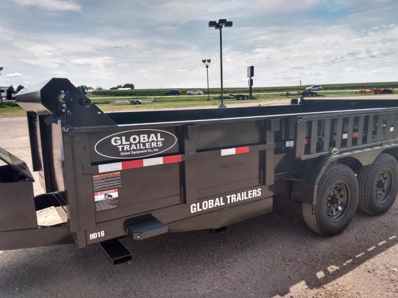 "2021 Global Equipment Co. 80"" X 16' HD Dump Trailer"