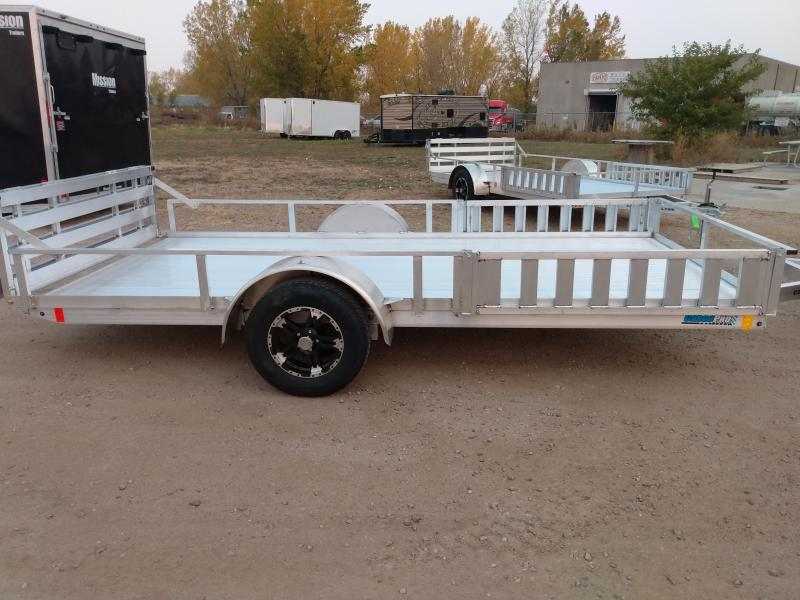 2021 Alcom-Stealth 80x14 Aluminum  Utility Trailer