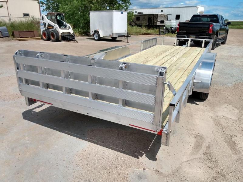 "2021 Alcom-Stealth 80"" X 18' Aluminum Utility Trailer"