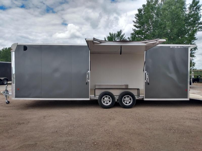 2019 Alcom-Stealth 8.5 x 24 Aluminum Frame Enclosed Cargo Trailer