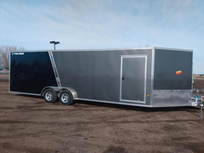 2020 Alcom-Stealth 7.5x29 Aluminum Snowmobile Trailer
