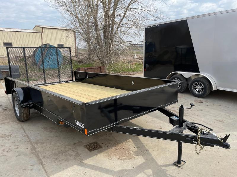 "2021 DCT 83""x14' Sided Utility Trailer"