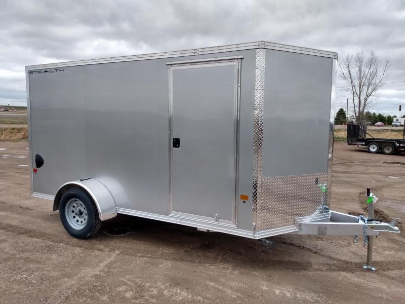 2021 Alcom-Stealth 6x12 Aluminum Frame Enclosed Cargo Trailer
