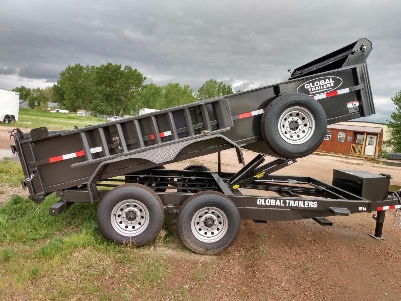 "2021 Global Equipment Co. 80"" X 14' HD Dump Trailer"