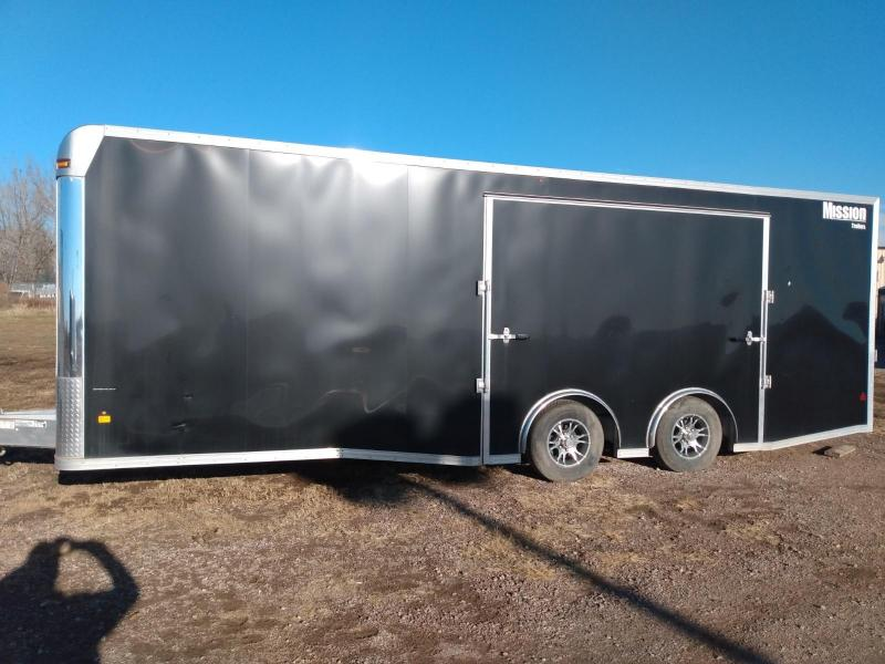 2019 Mission 8.5 X 24' Aluminum Frame Enclosed Cargo Trailer