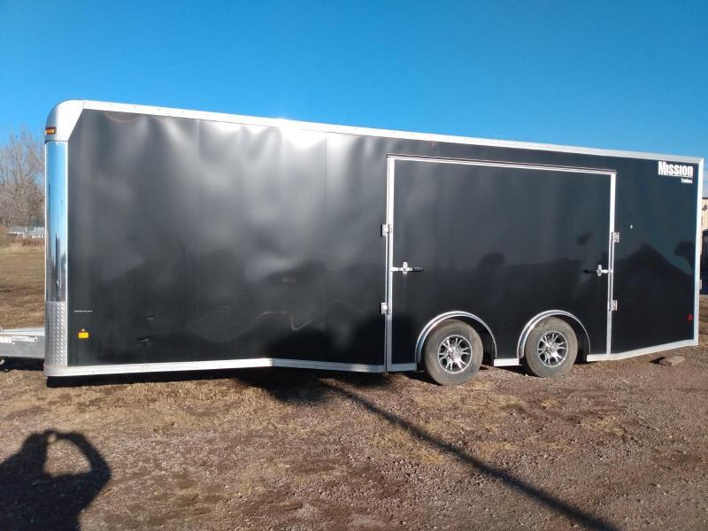 2019 Mission 8.5 X 24' Aluminum Frame Enclosed Cargo Trailer