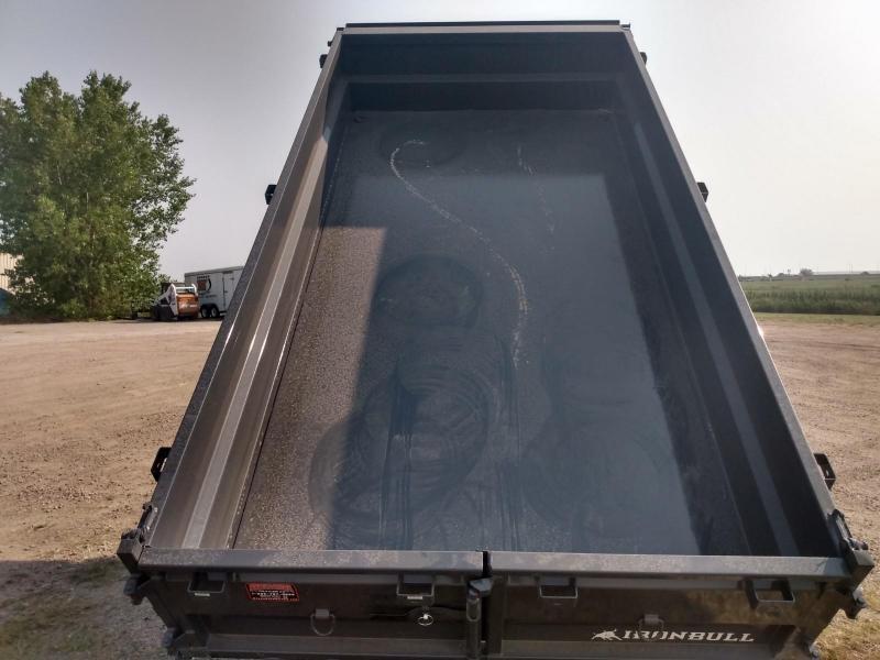 "2021 Iron Bull 83""x14' Industrial Dump Trailer"