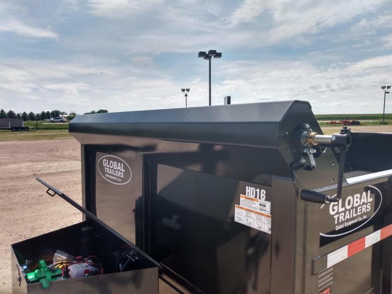 "2021 Global Equipment Co. 80"" X 16' HD Dump Trailer"