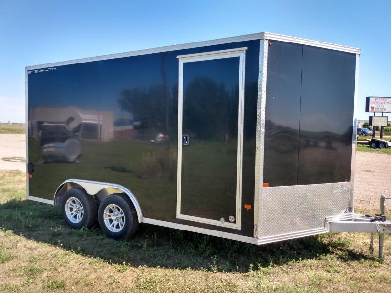 2019 Alcom-Stealth 8.5 X 14 Aluminum frame Enclosed Cargo Trailer