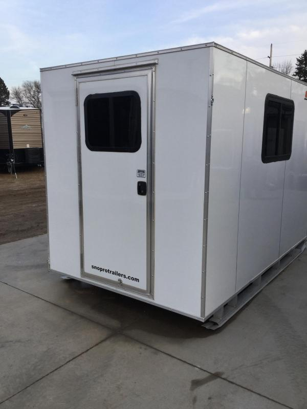 2019 Alcom-Stealth 6x10 Skid House Ice/Fish House Trailer