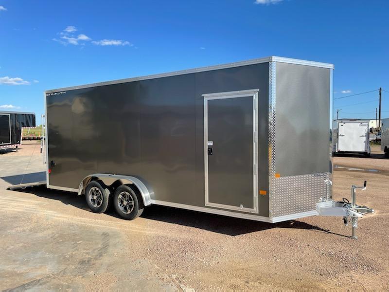2021 Alcom-Stealth 7.5 x 18 Aluminum Frame Enclosed Cargo Trailer