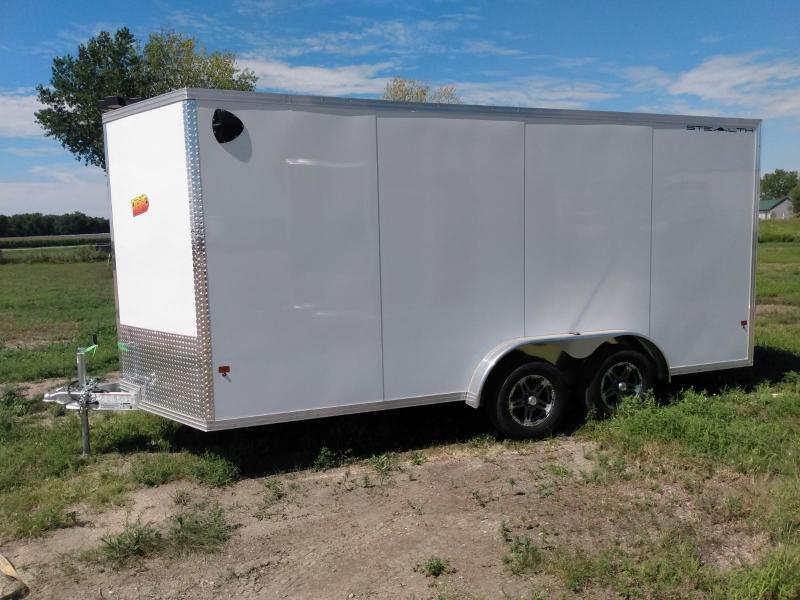 2020 Alcom-Stealth 7.5 x 16 Aluminum Frame Enclosed Cargo Trailer