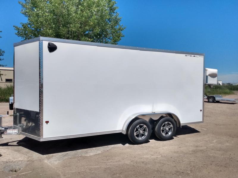 2020 Alcom-Stealth 7.5 x 16 Aluminum Frame Enclosed Cargo Trailer