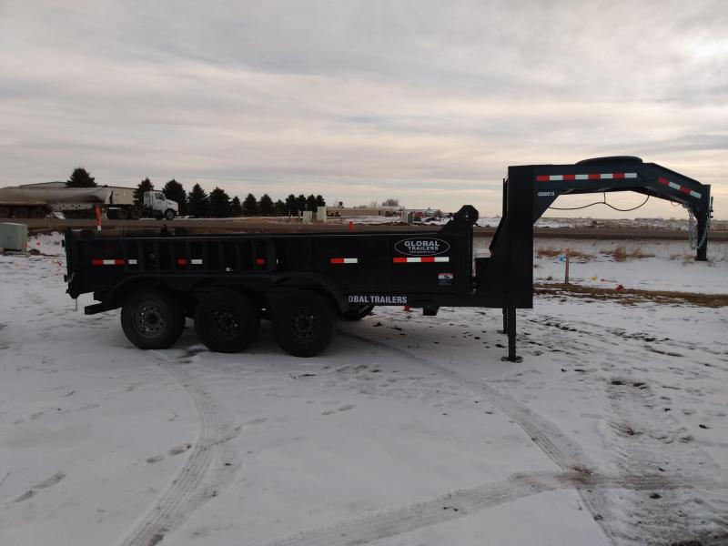 2021 Global Equipment Co. 16 Gooseneck Dump Dump Trailer