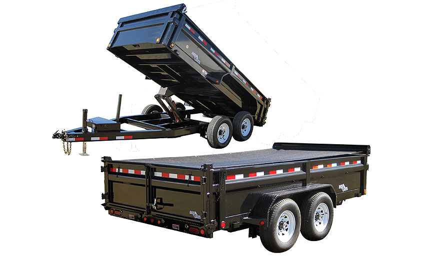 "2015 Load Trail 83"" x 14' Low Pro Tandem Axle Dump (with scissor lift)"